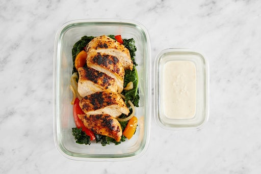 Assemble & Store the Seared Chicken & Lemon Mayo: