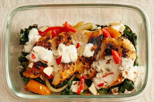 Finish & Serve the Seared Chicken & Lemon Mayo: