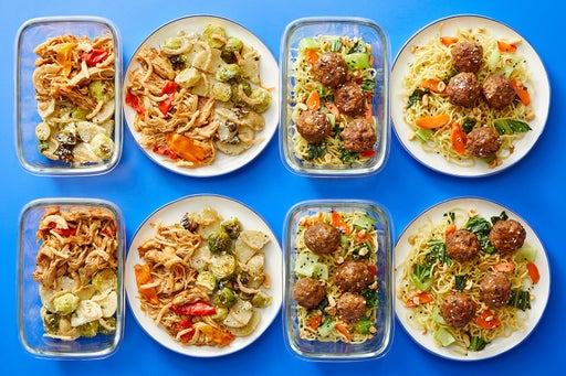 Multi-Cooker with Beef Meatballs & Shredded Chicken