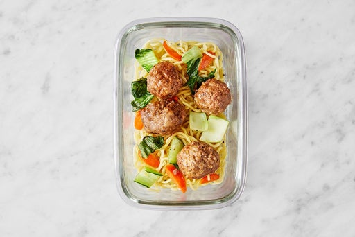 Assemble & Store the Sweet & Spicy Meatballs: