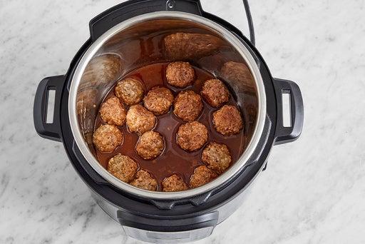 Cook the meatballs & sauce: