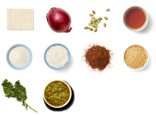 Pepita & Panko-Crusted Tofu with Rice & Cilantro Sauce