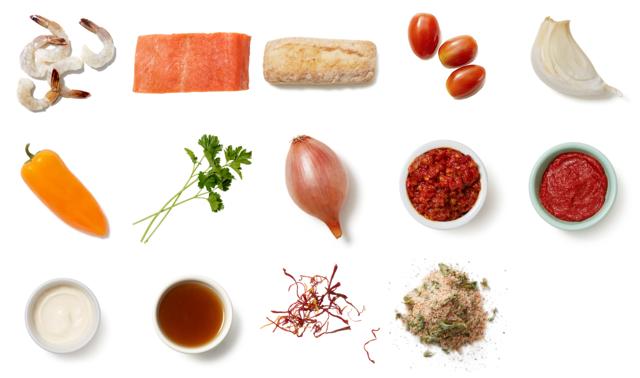 Provençal-Style Salmon & Shrimp with Aromatic Broth & Saffron Toast