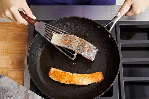Cook the salmon & serve your dish: