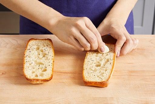 Make the saffron toast: