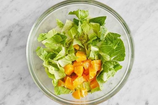 Prepare the salad ingredients: