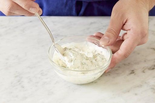 Make the basil aioli: