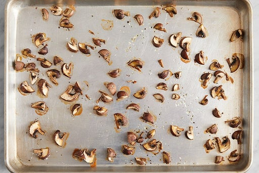 Roast the mushrooms: