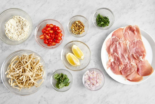 Prepare the ingredients & season the ricotta: