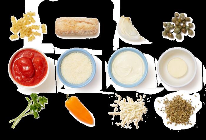 Mafalda Pasta in Creamy Tomato Sauce with Cheesy Bread