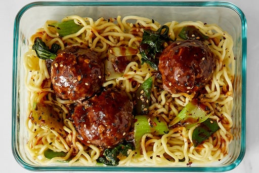 Finish & Serve the Meatballs & BBQ-Soy Sauce: