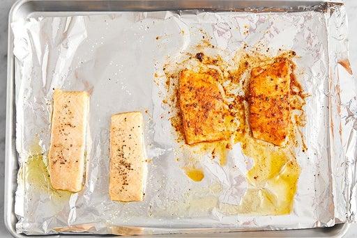 Roast the salmon: