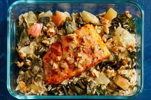 Finish & Serve the Smoky Salmon & Collard Green Rice: