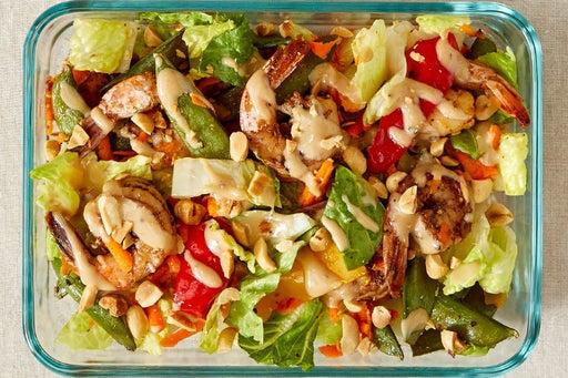 Finish & Serve the Spiced Shrimp Salad: