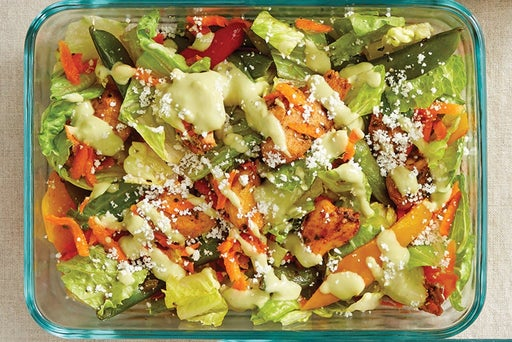 Finish & Serve the Mexican-Style Chicken Salad: