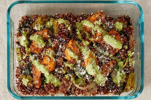 Finish & Serve the Seared Chicken & Quinoa: