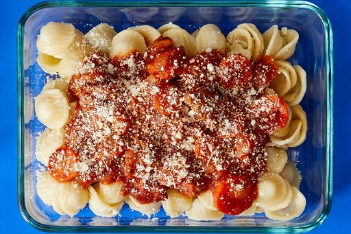 Finish & Serve the Hot Italian Pork Sausage Pasta: