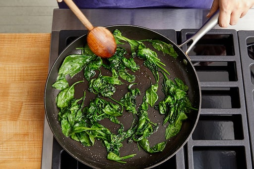 Wilt the spinach: