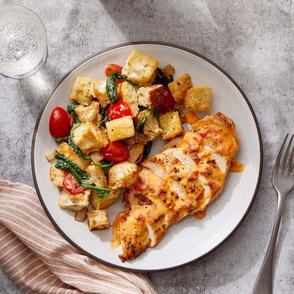 Hot Honey Chicken with Rosemary & Cipolline Onion Panzanella