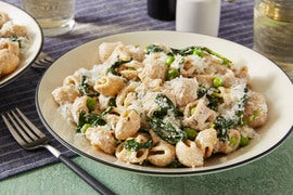 Whole Grain Pasta & Peas with Ricotta Cheese & Mint