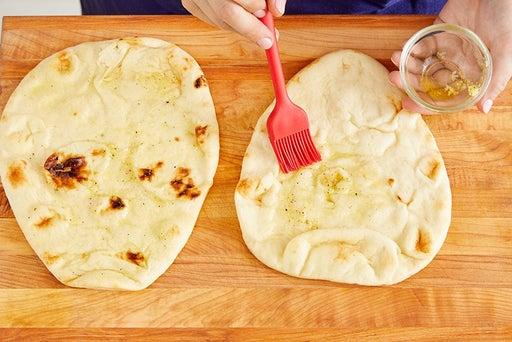 Make the garlic naan