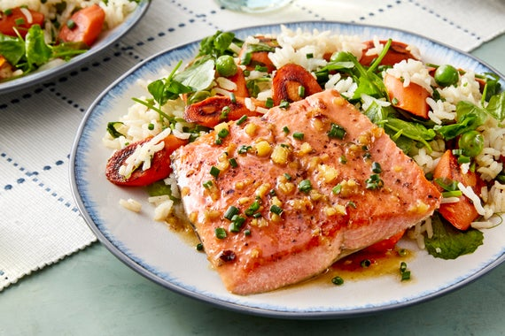Recipe seared salmon lemon ginger sauce with carrots for Summer fish and rice