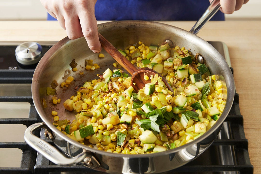 Make the succotash: