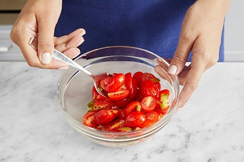 Prepare the remaining ingredients & make the salsa: