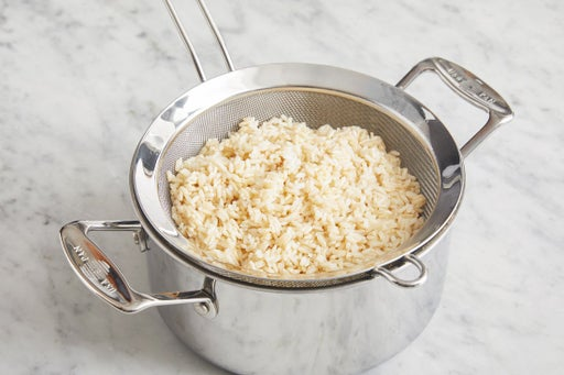 Cook & finish the rice:
