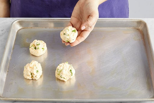 Make the dough & form the biscuits:
