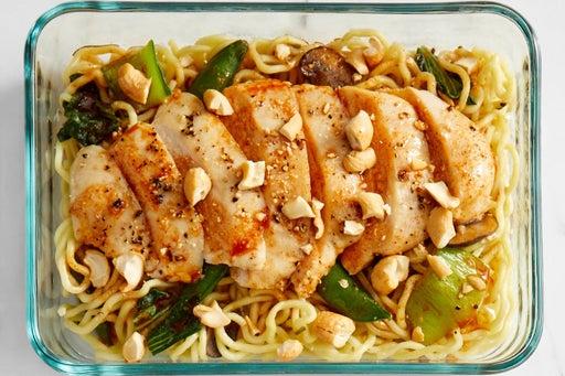 Finish & Serve the Chicken & Vegetable Ramen: