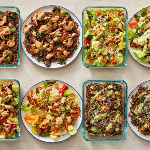 Carb Conscious with Za'atar Shrimp & Seared Chicken