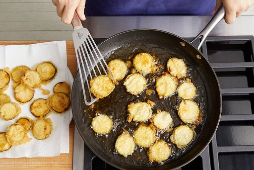 Make the tempura zucchini & serve your dish: