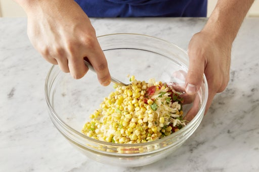 Cook the corn & make the filling: