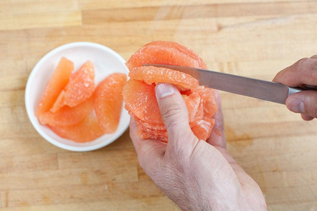 Prepare the grapefruit: