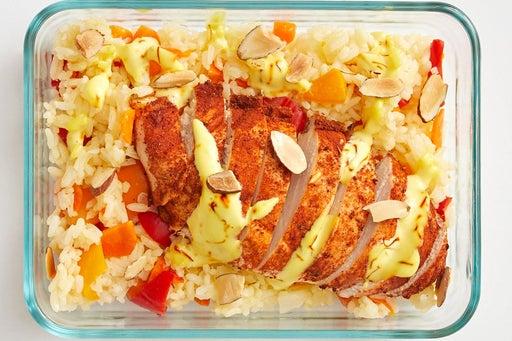 Finish & Serve the Spanish Chicken & Rice: