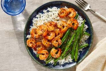 Discontinued Shrimp Teriyaki with Jasmine Rice & Spicy Green Beans