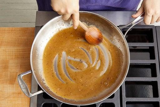 Make the pan sauce & serve your dish: