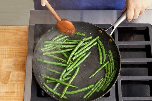 Cook & dress the green beans: