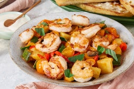 Shrimp & Provençal-Style Vegetables with Summer Squash & Aioli