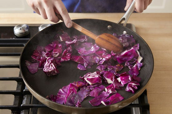 Cook the cabbage: