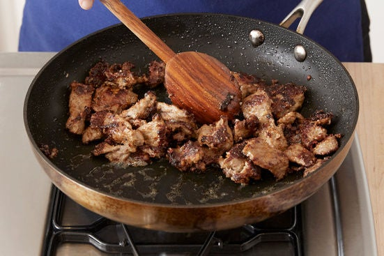 Cook the beef: