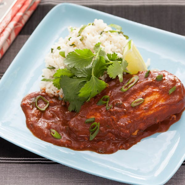 Mexican Chicken Mole with Lime-Cilantro Rice