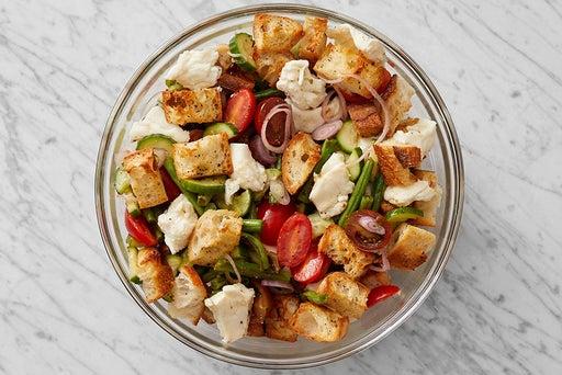 Make the panzanella & serve your dish: