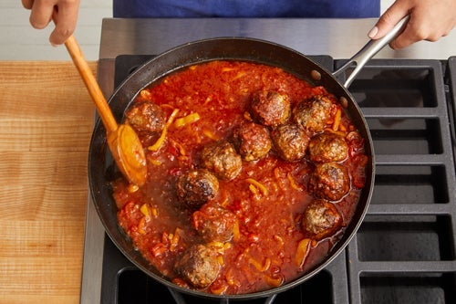 Finish the meatballs & serve your dish: