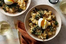 Roasted Cauliflower Salad with Caper Brown Butter & Parmesan Breadcrumbs