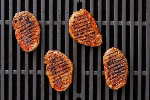 Grill the pork: