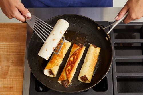 Cook the flautas & serve your dish: