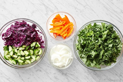 Prepare the remaining ingredients & make the slaw: