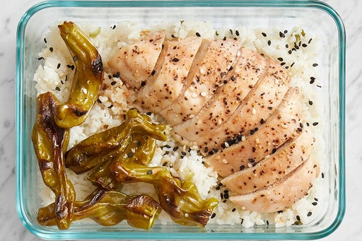 Finish & serve the Asian-Style Chicken & Rice: